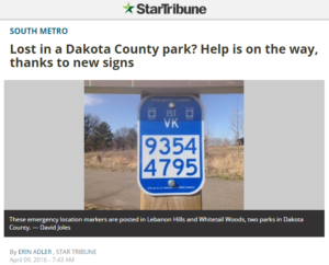 Dakota-County-Park-Signs-with-USNG-Markers